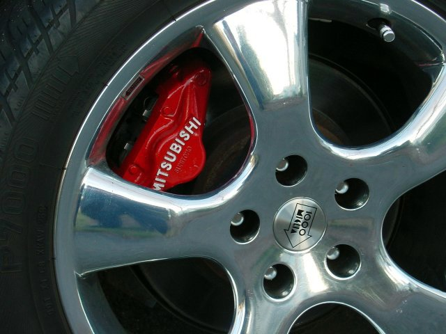 Red Rear Calipers